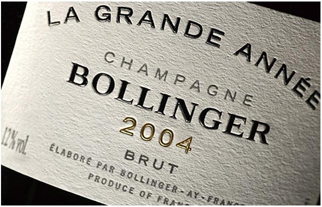Dégustation des 14 et 15  décembre : Champagne Bollinger