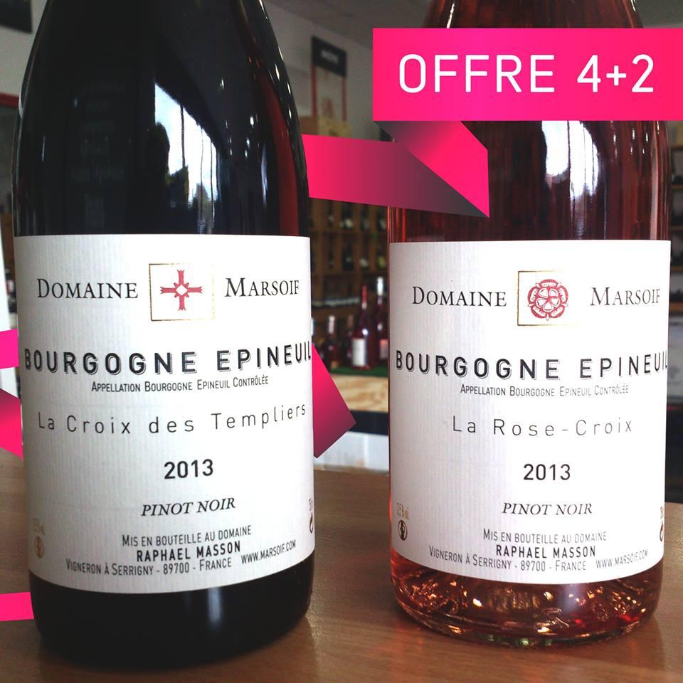 Offre 4+2 sur les Epineuils rouge et rosé Marsoif