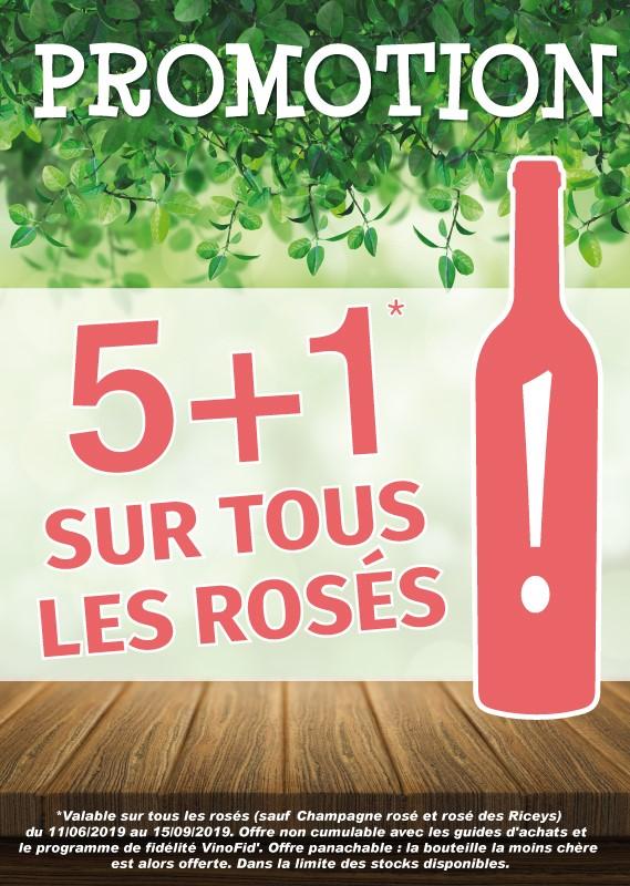 5+1 sur les rosés*